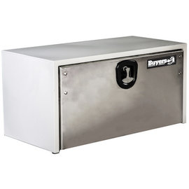 Buyers Products Company White Steel Underbody Truck Box with Stainless Door Series