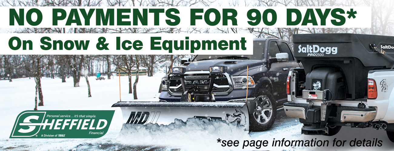 Snow Plow or Salt Spreader Financing - Buy a Brand New Snow Plow or Salt Spreader Today, Don't Pay for 90 Days - Cleveland, Akron, Bedford, Twinsburg
