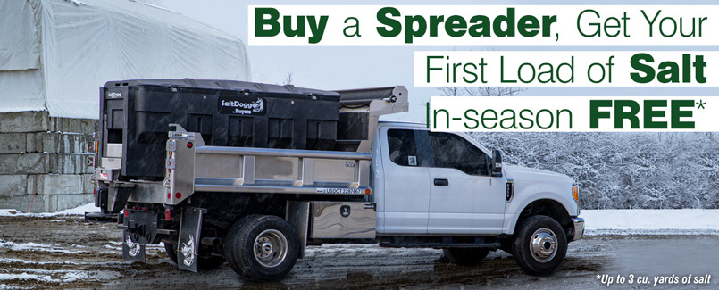 Salt Spreader Sale - Buy a new salt spreader, get your first salt fill-up FREE - Cleveland, Akron, Bedford, Twinsburg