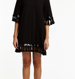 MESTIZA SHIMMY TASSEL DRESS