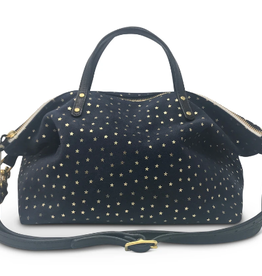 Navy Suede Stars Devon Holdall Handbag