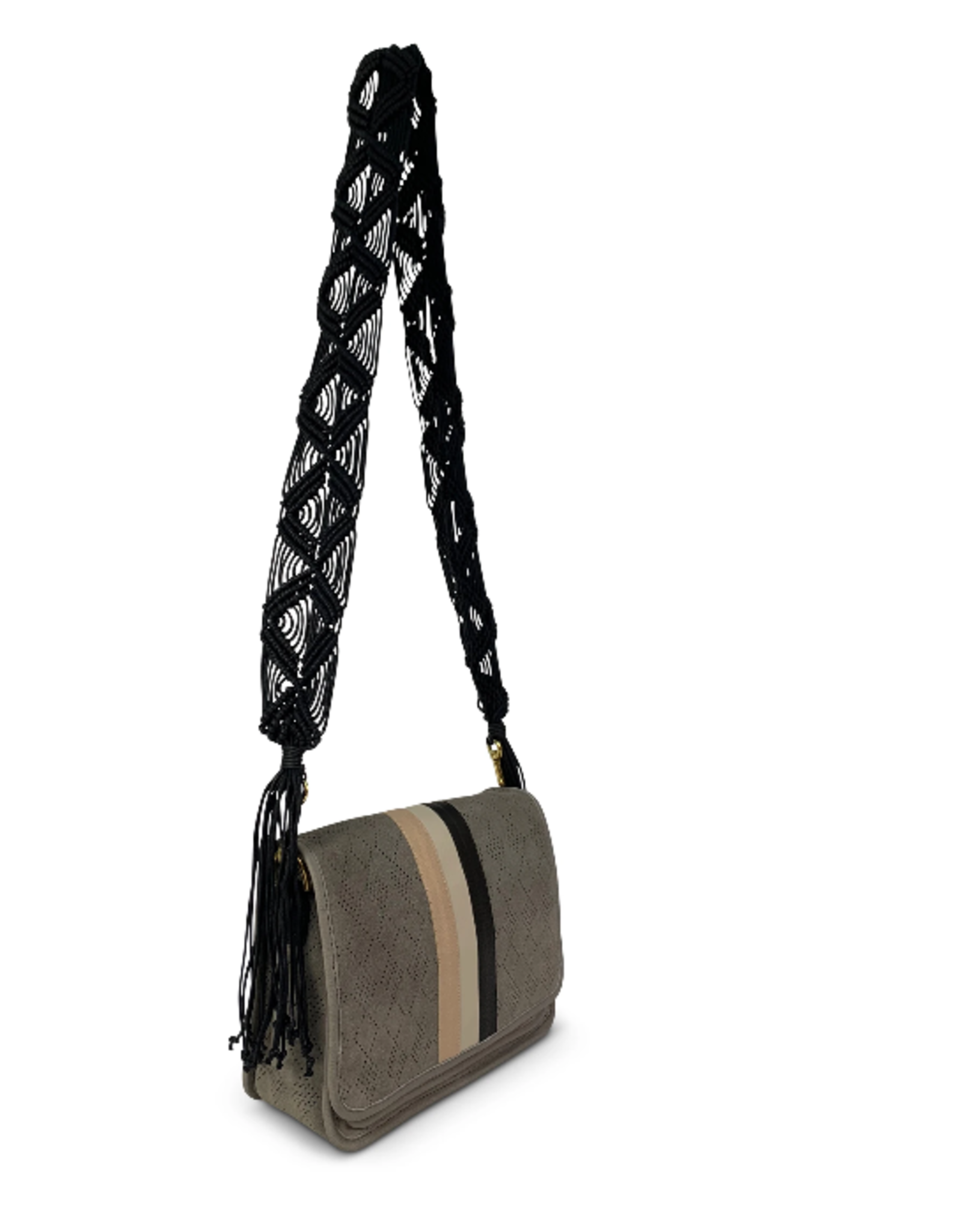 KEMPTON EVA SUEDE DIAMOND PERFORATED BAG