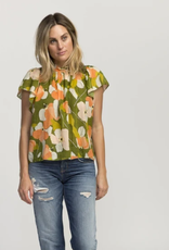 TROVATA BIRDS OF PARADISE CARLA HIGHNECK SHIRT