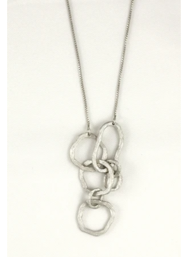 "16"" JUMBLED PENDANT NECKLACE"