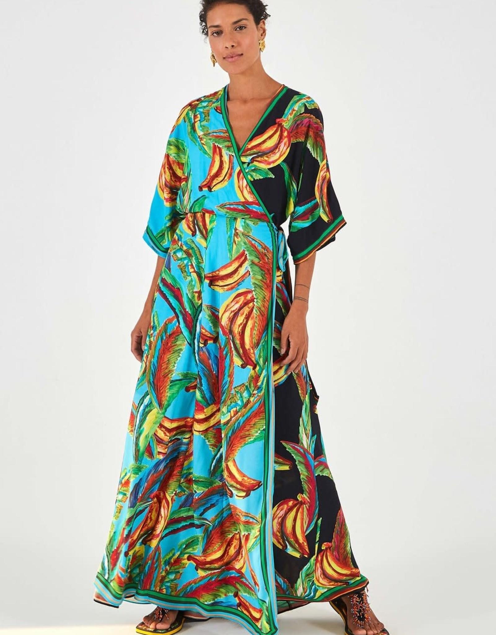 FARM RIO BANA WRAP DRESS