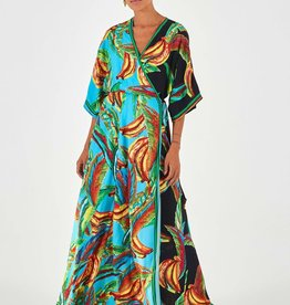 FARM RIO BANA WRAP DRESS