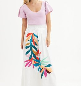 MARIE OLIVER STEVIE SMOCKED SKIRT
