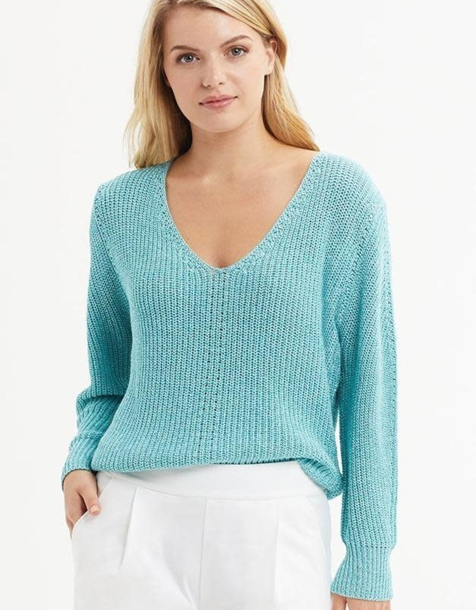 MARIE OLIVER METALLIC LS SWEATER