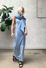 RAQUEL ALLEGRA MUSCLE MAXI DRESS
