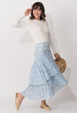MARGARET O'LEARY SONIA TIERED SKIRT