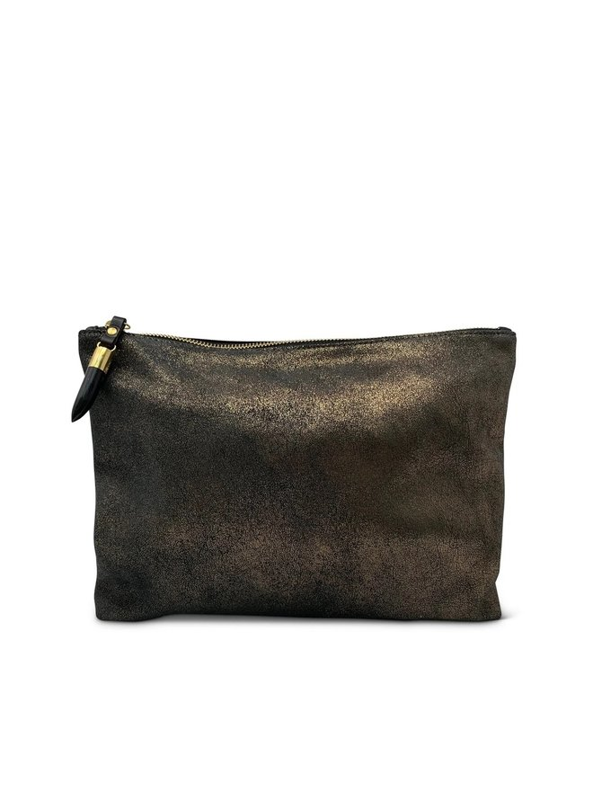 BRONZE DISTRESSED POUCH