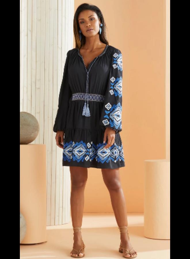 KIRA EMBRD DRESS