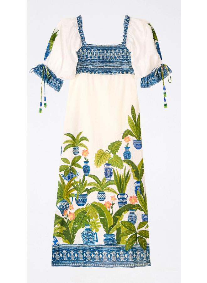 VASE FOREST MAXI DRESS