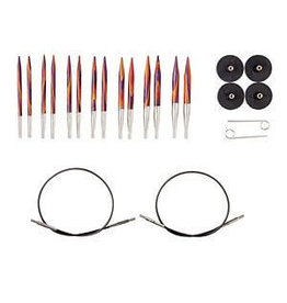 Knit Picks Options Short Interchangeable Radiant Circular Knitting Needle Set