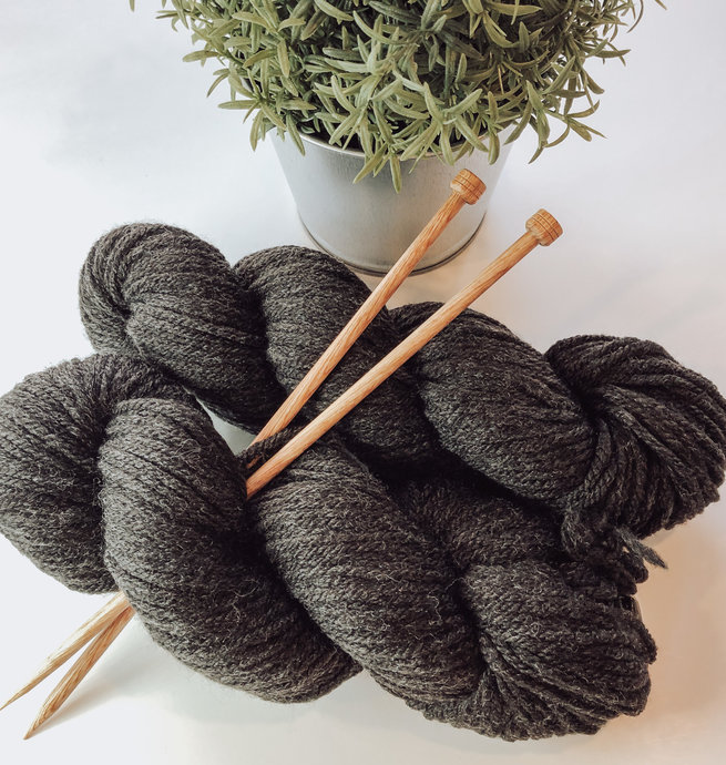 Pelotes & Cie Kit débutant Tricot -  Heather Charcoal