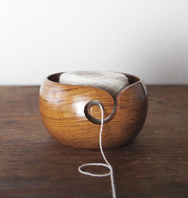 Knit Picks Bol à laine - Bois