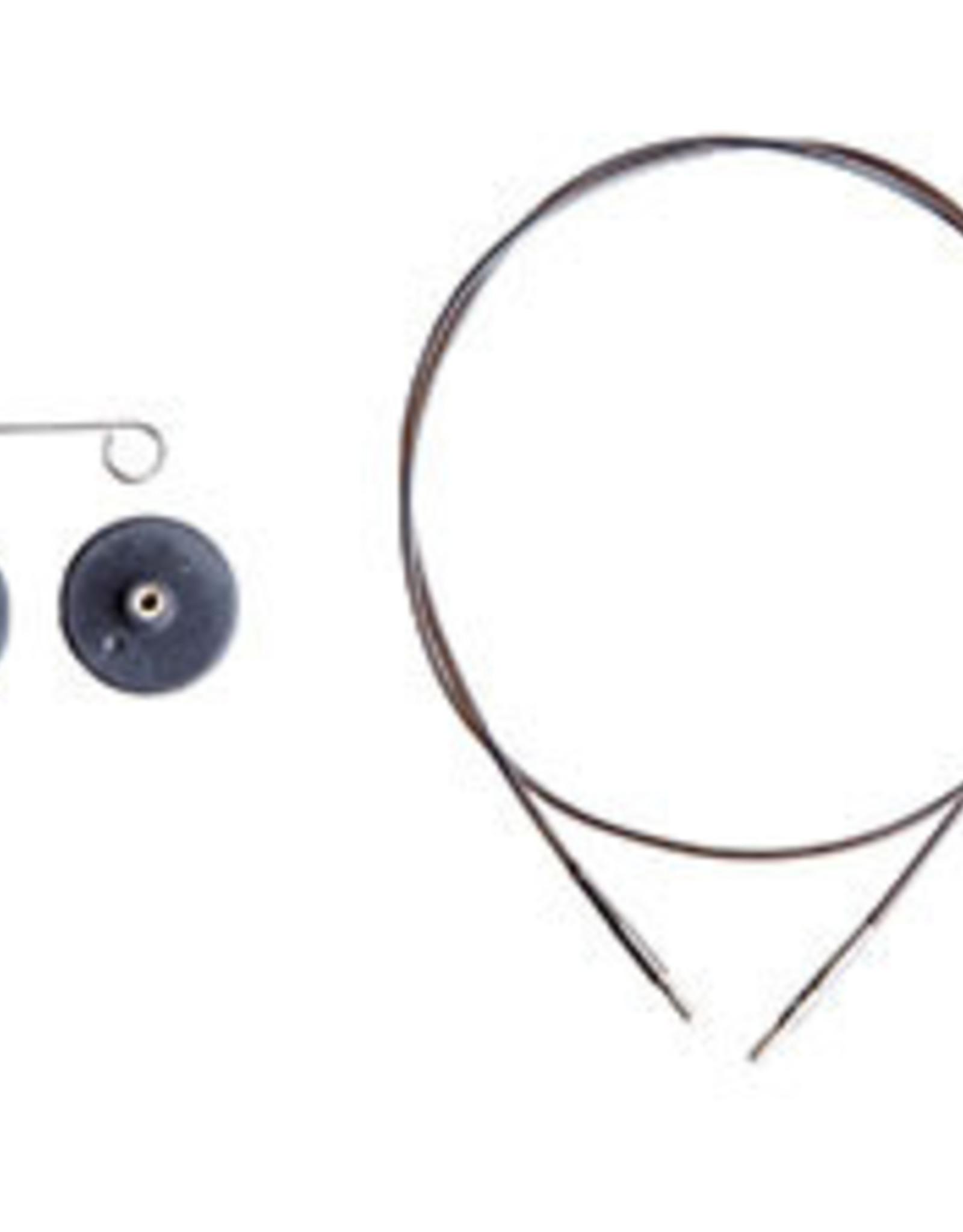 Knit Picks Câble interchangeable noir - Knit Picks