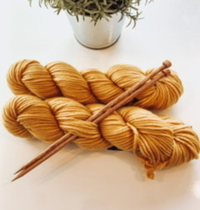 Pelotes & Cie Kit débutant Tricot - Golden rod