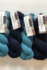 Pelotes & Cie Kit prêt à partir - Châle Serenité (Bleu-turquoise)