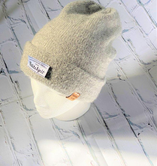 Pelotes & Cie Kit tuque Oslo - Gris pâle