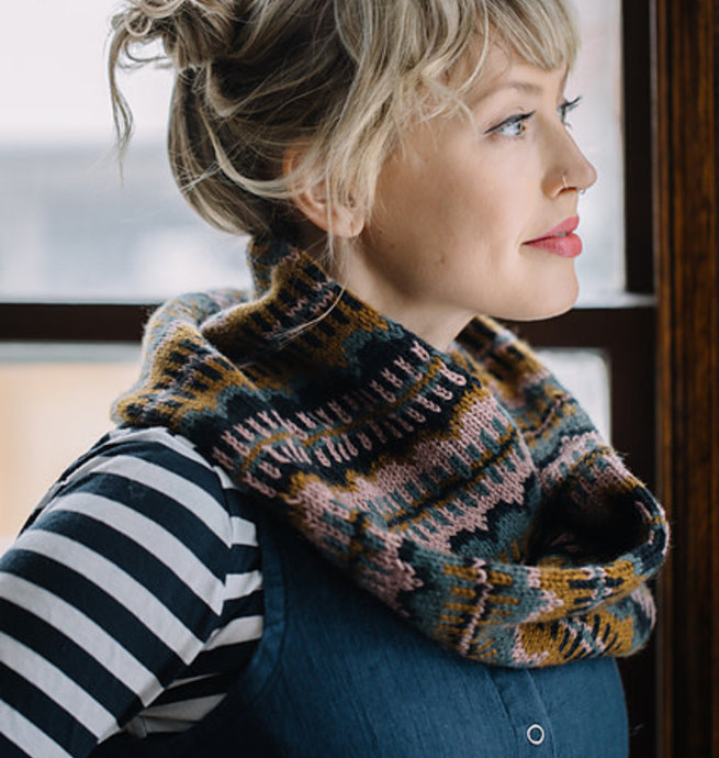 Pelotes & Cie Kit prêt à tricoter - Moonwake cowl #1