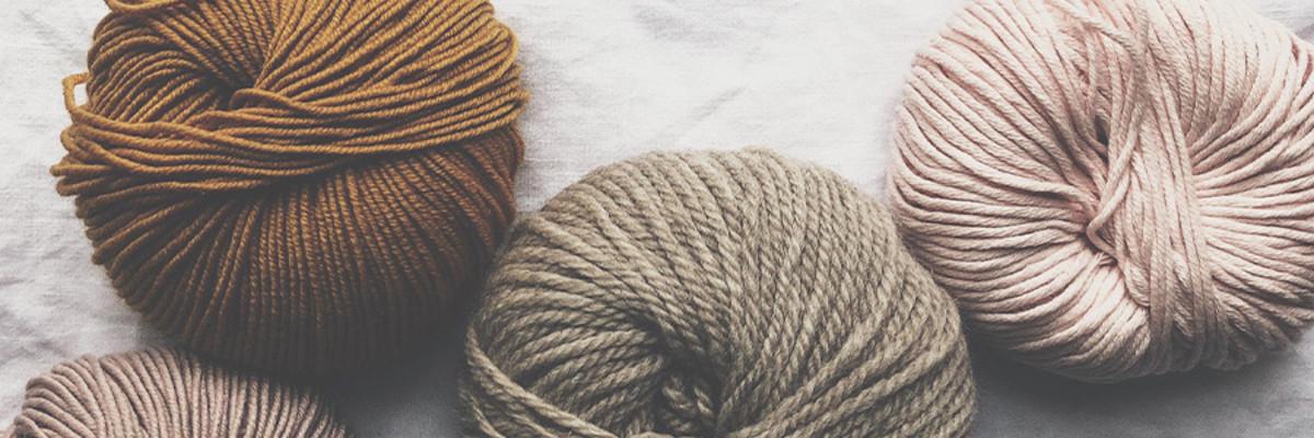 Laine à tricot et crochet