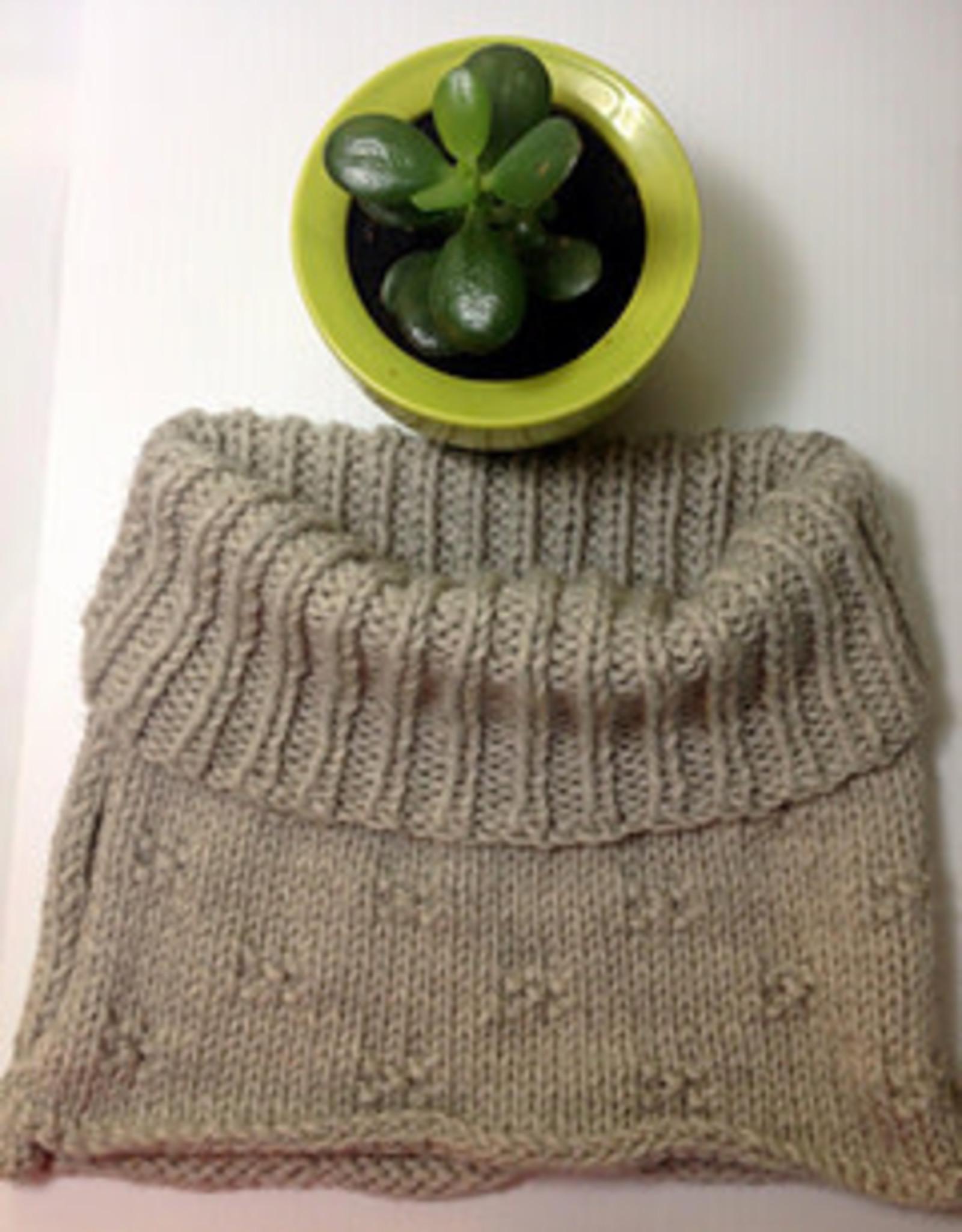 Pelotes & Cie Kit prêt à tricoter - Le P'tit Col (Emerald)