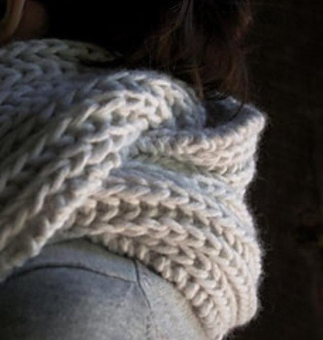 Pelotes & Cie Kit prêt à tricoter - Seafaring Scarf (Silver)