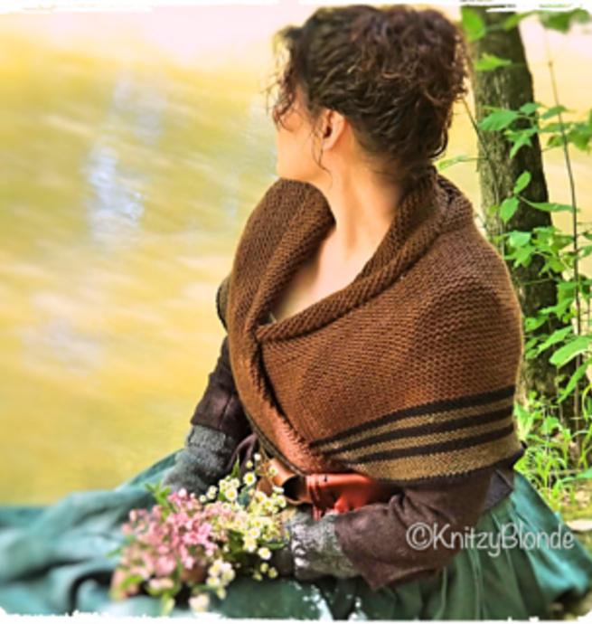 Pelotes & Cie Kit prêt à tricoter - Châle Claire Fraser (Outlander) #2