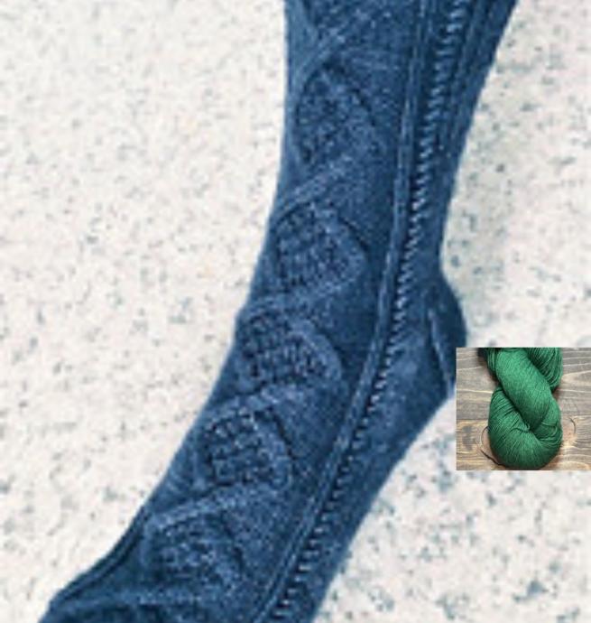 Pelotes & Cie Prêt-à-tricoter - Bas Croisée des chemins - Vert forêt
