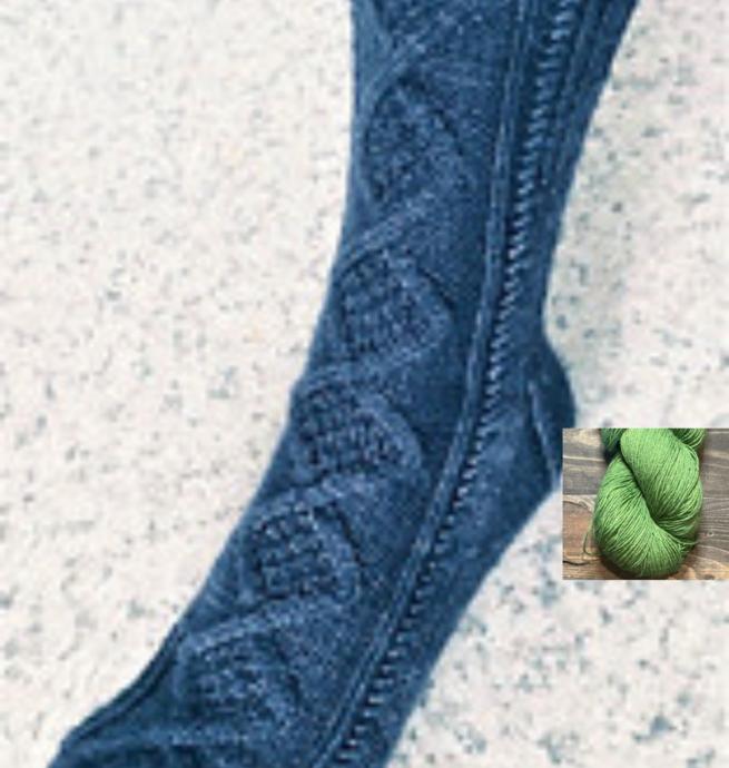 Pelotes & Cie Prêt-à-tricoter - Bas Croisée des chemins - Vert lime