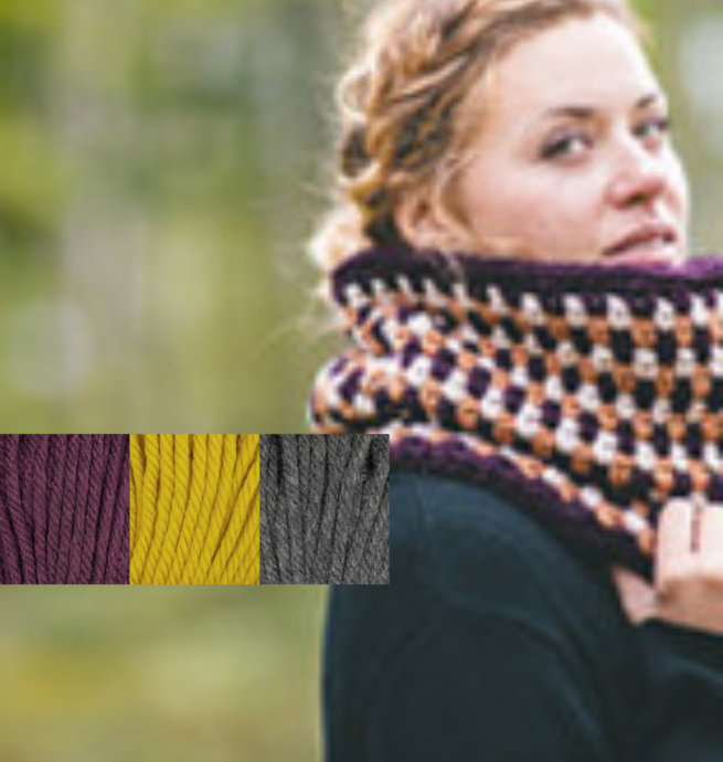Pelotes & Cie Prêt-à-crocheter - Tricycle Cowl - Plum