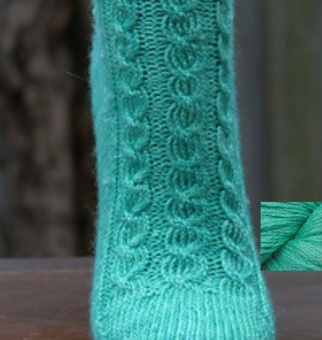 Pelotes & Cie Prêt-à-tricoter - Bas abundance - Celadon