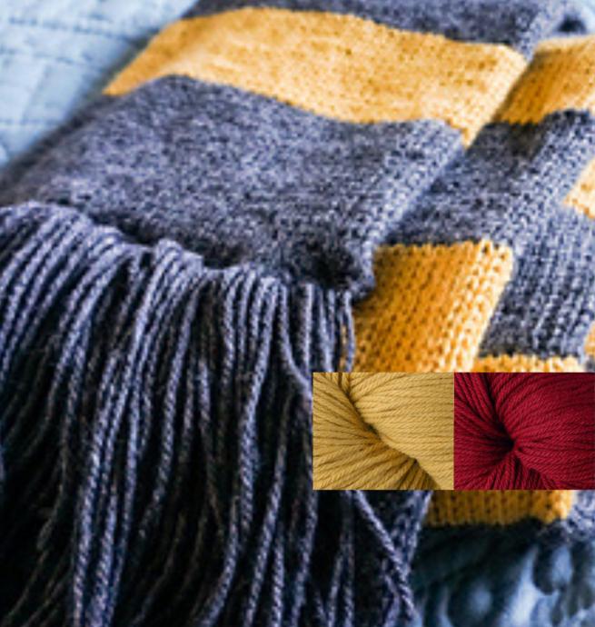 Berroco Prêt à tricoter - Foulard Harry Potter - Gryffondor