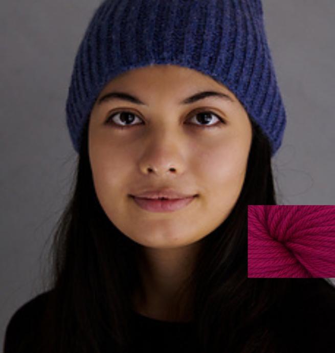 Pelotes & Cie Prêt-à-tricoter - Classic brioche hat - Party pink