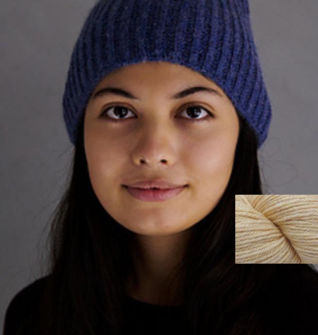 Pelotes & Cie Prêt-à-tricoter - Classic brioche hat - Linen Heather