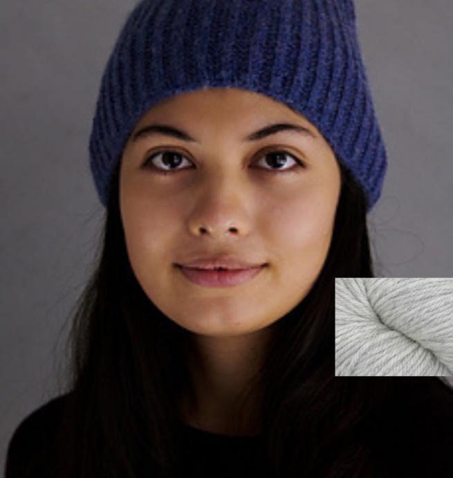 Pelotes & Cie Prêt-à-tricoter - Classic brioche hat - Heather silver