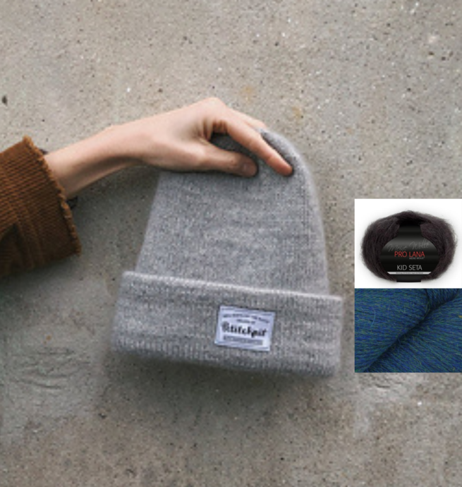 Pelotes & Cie Prêt-à-tricoter - Oslo hat version mohair - Indigo