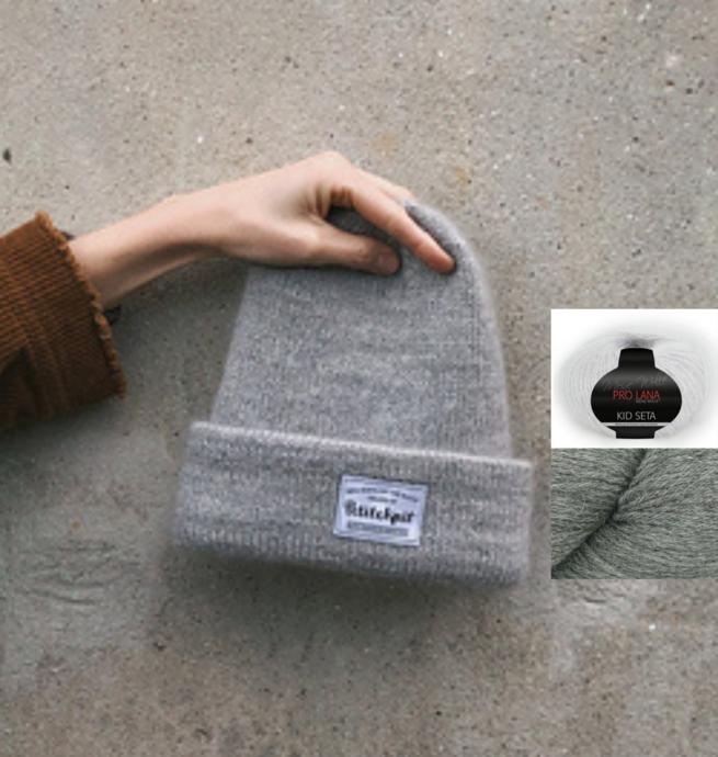 Pelotes & Cie Prêt-à-tricoter - Oslo hat version mohair - Grey