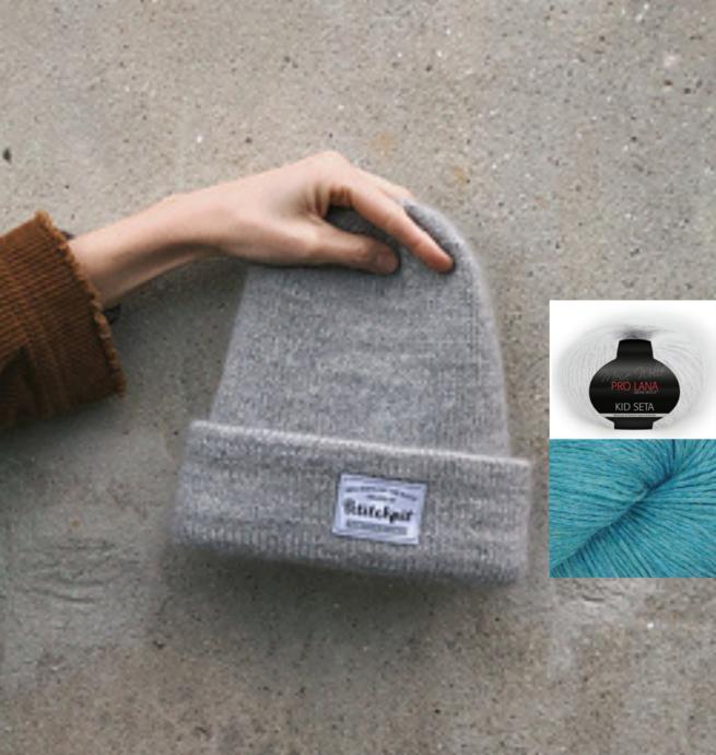 Pelotes & Cie Prêt-à-tricoter - Oslo hat version mohair - Artic