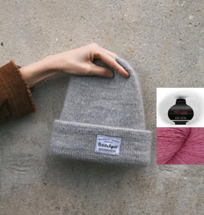 Pelotes & Cie Prêt-à-tricoter - Oslo hat version mohair - Cerise