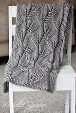 Pelotes & Cie Prêt-à-tricoter -Leafy baby blanket - Mistletoe
