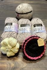 Pelotes & Cie Prêt-à-tricoter/crocheter- Tampons démaquillants- Gris