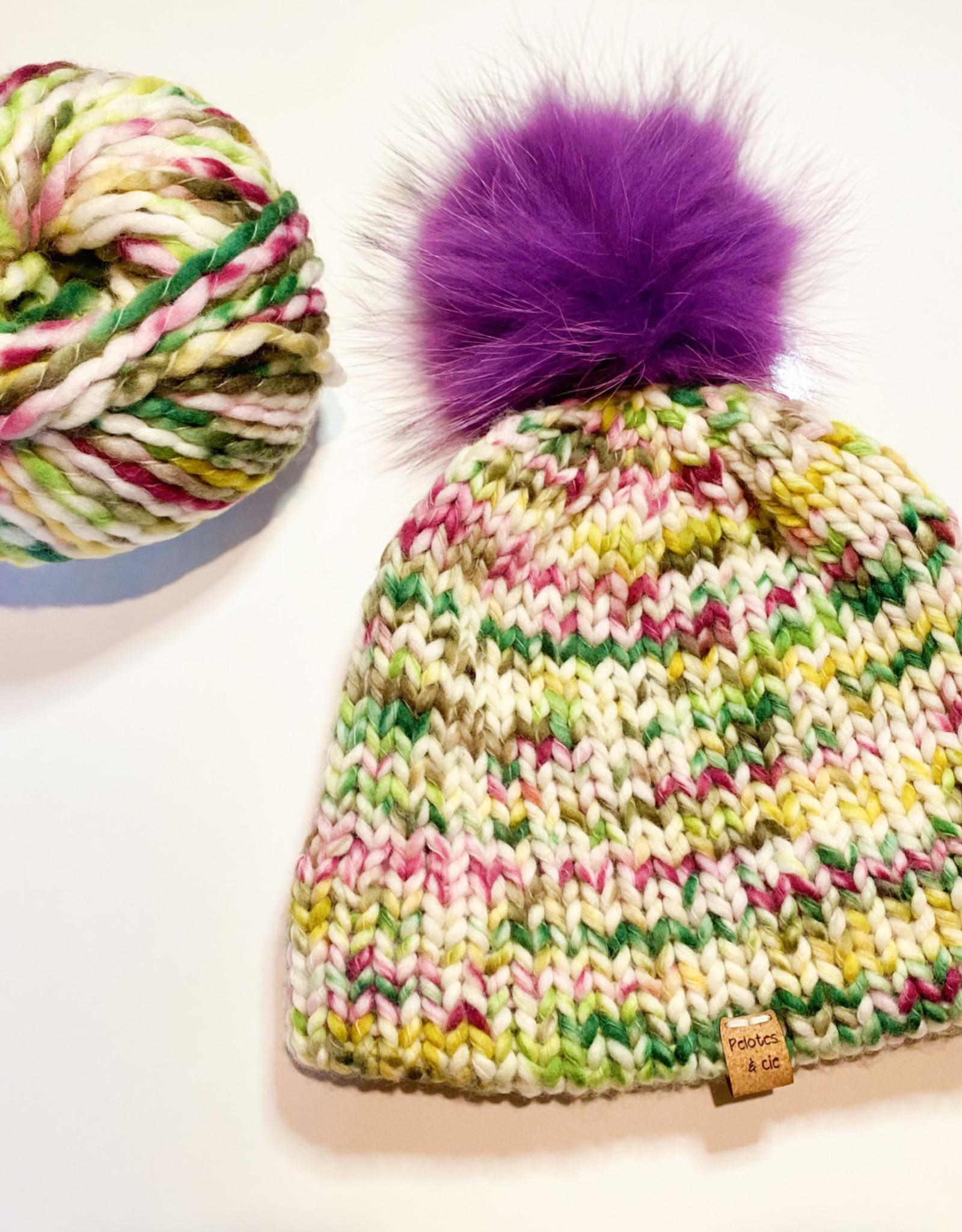 Pelotes & Cie Prêt-à-tricoter - Tuque Clover - Rosie