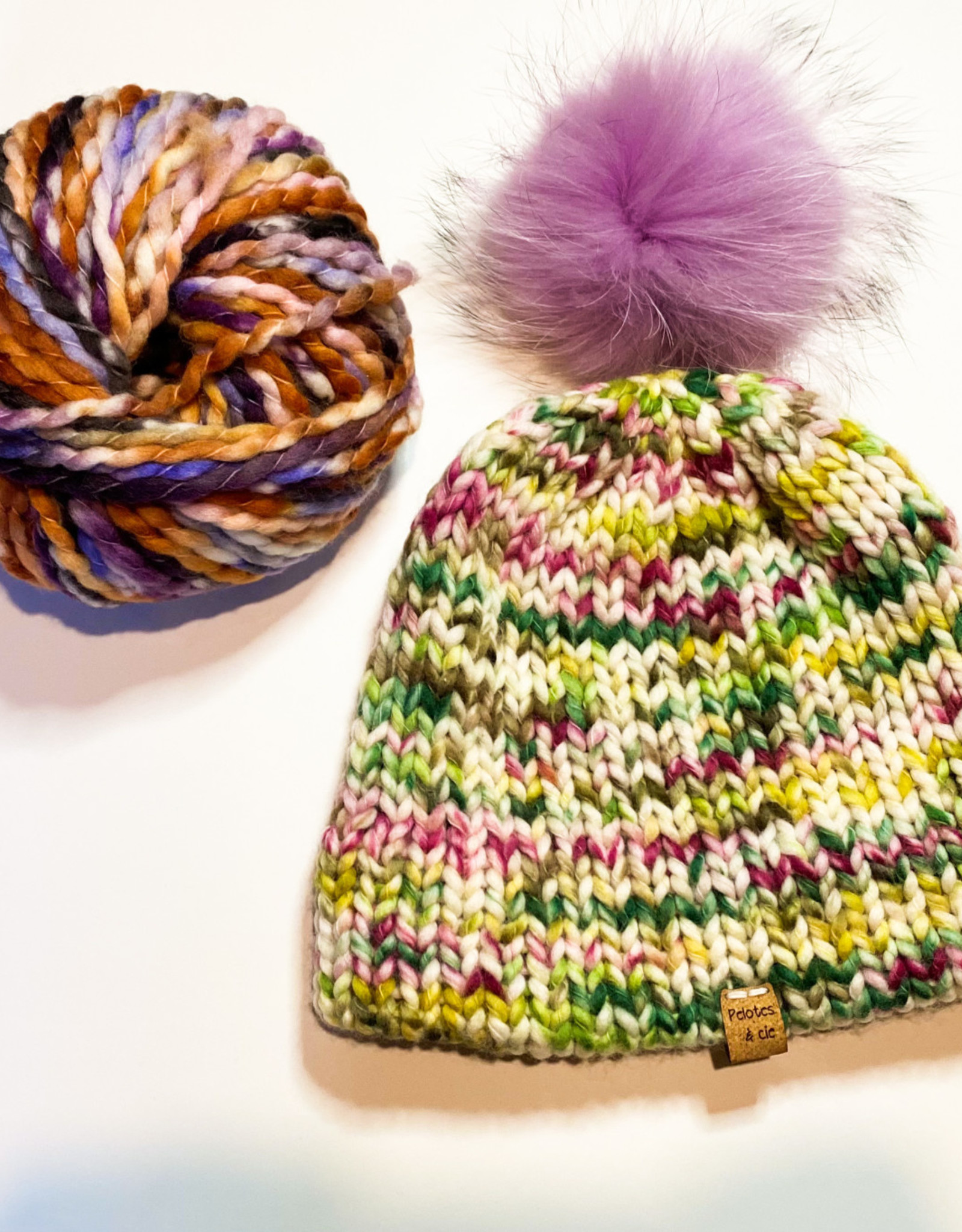 Pelotes & Cie Prêt-à-tricoter - Tuque Clover - Purple
