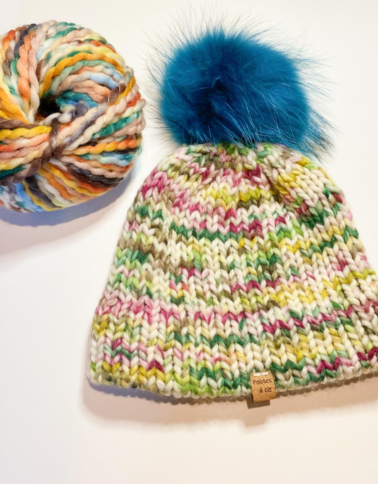 Pelotes & Cie Prêt-à-tricoter - Tuque Clover - Green