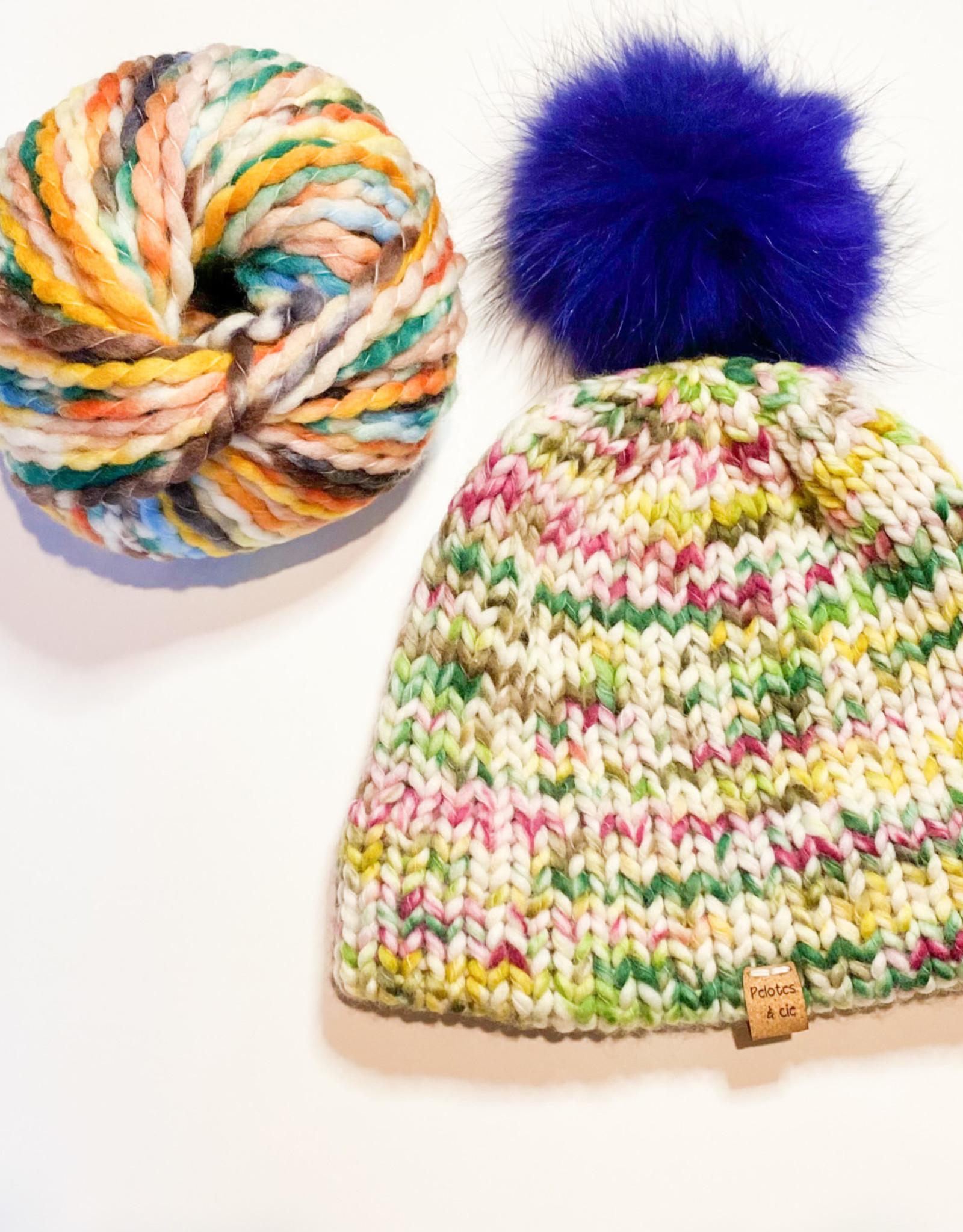 Pelotes & Cie Prêt-à-tricoter - Tuque Clover - Blue
