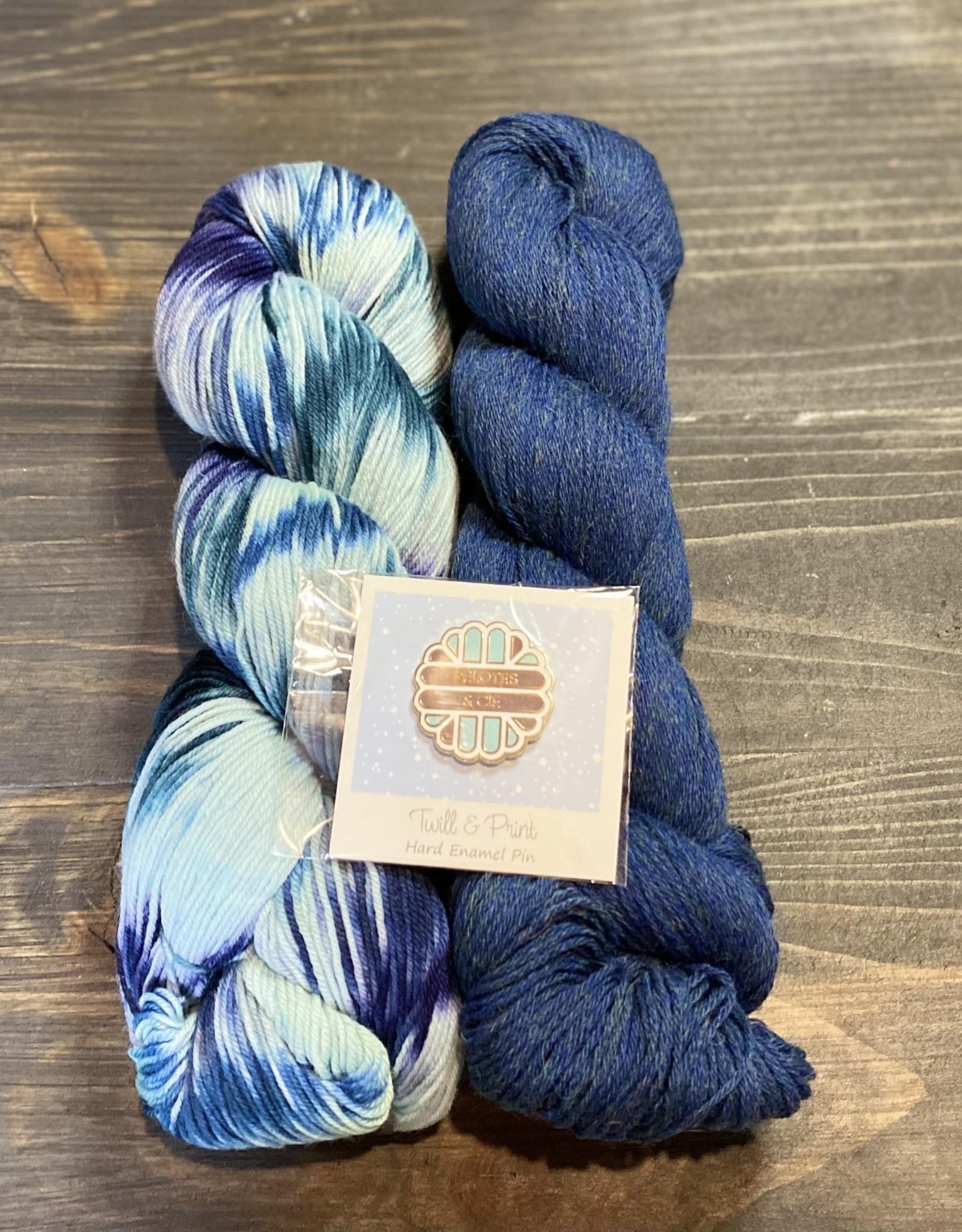 Pelotes & Cie Ensemble unique prêt à partir - Laine + pin de tricot