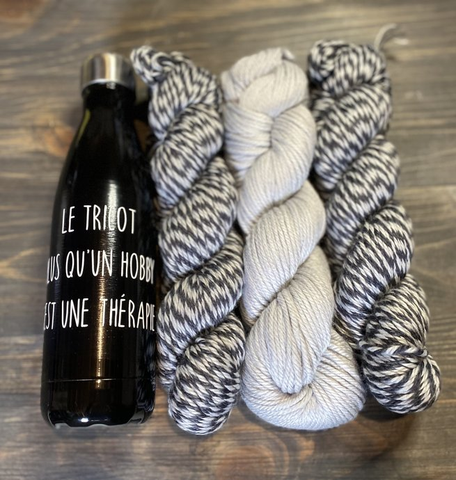 Pelotes & Cie Ensemble unique prêt à partir - Noir et gris