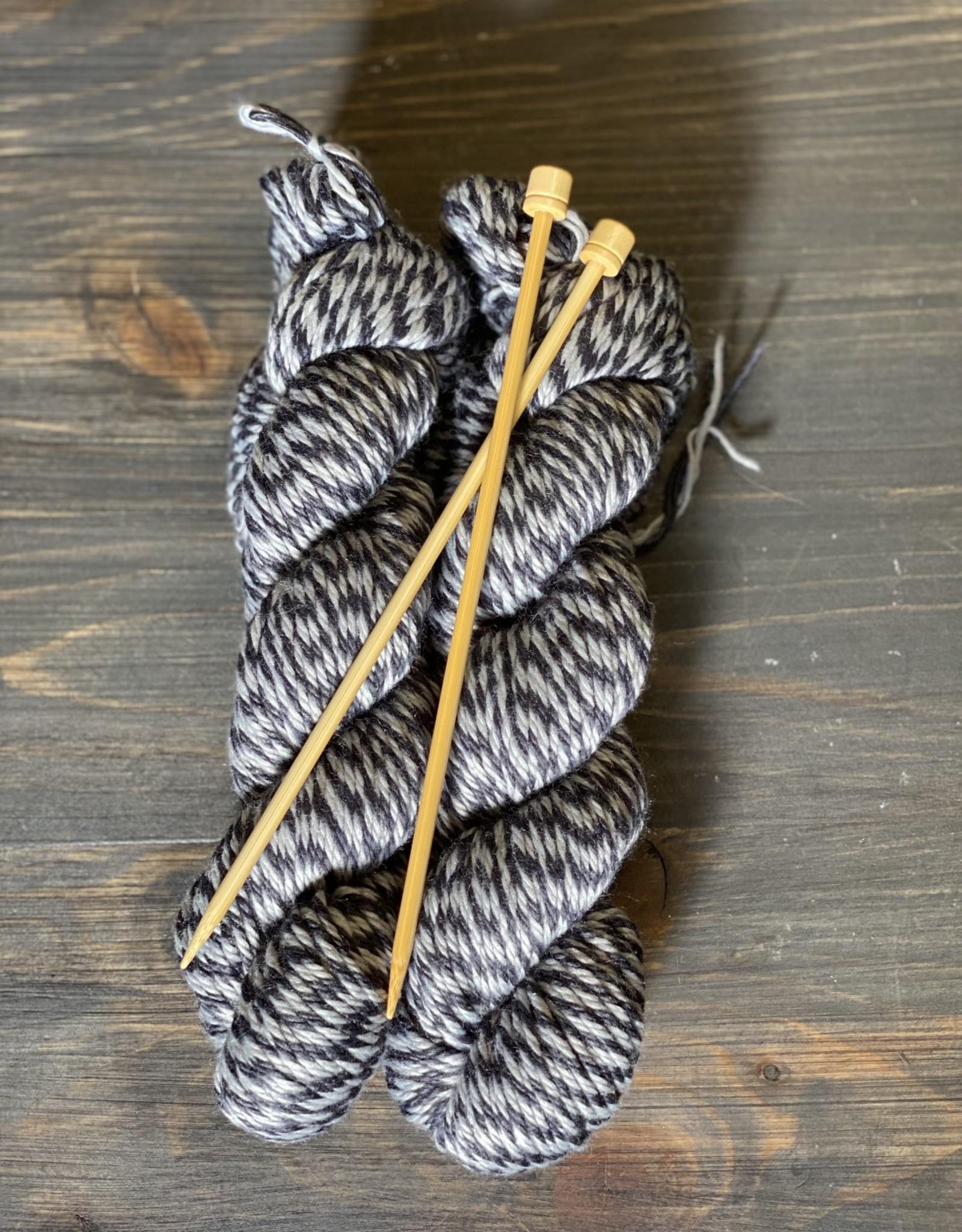 Pelotes & Cie Kit débutant Tricot - Noir et gris
